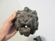 Georgina Cast Iron Lion Fountain Head Water Feature Victorian Antique Lions Old