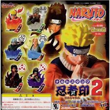 BANDAI Naruto Gashapon 6 Stamp Figure Set Part 2 Kakashi Jiraiya Sasuke Uchiha
