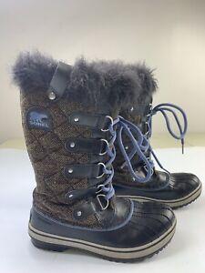 Sorel Tofino Herringbone Waterproof Snow Winter Boots NL2043-248 Women's 6