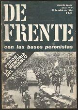 Magazine De Frente Con Las Bases Peronistas Peron nº9 1974
