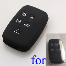 Black Silicone Shell Cover fit for LR4 Range Rover Evoque Sport Smart Key Case
