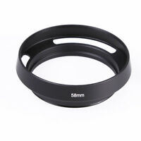 Black Metal 58mm Curved Vented Lens Hood for Leica 58 Thread DSLR Camera Lens
