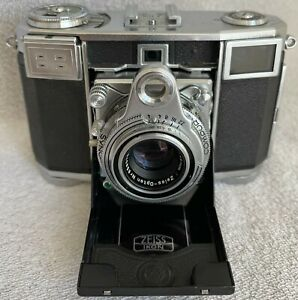 Zeiss Ikon Contessa 533/24 35mm Film Rangefinder Camera Opton Tessar T 45mm Lens