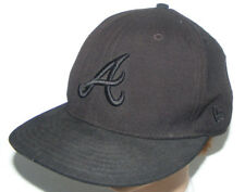 New Era Atlanta Braves 59Fifty Authentic MLB On Field 7 3/8 Fitted Hat Cap Black
