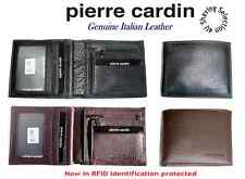 Pierre Cardin Men's Zipped Bi fold Wallet - Genuine Italian Leather - PC8781