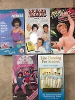 Senior Workout VHS Tapes From 80s 90s Dance Aerobics Exercise Richard Simmons