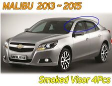 Smoked Window Visor Sun Rain Vent Door Guard K122 For CHEVROLET 2013~2015 Malibu