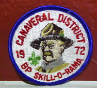 Boy Scouts Canaveral District Florida Patch 1972 Baden Powell Skill O Rama