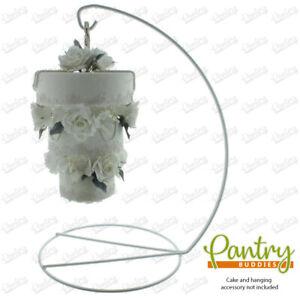 Hanging Cake Frame - Sturdy Metal Cake Frame Stand - Wedding Cake Presentation