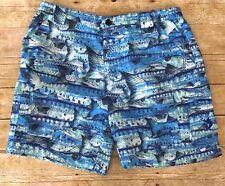 Reel Legends Mens Size Large Bonefish Cargo Shorts Barracuda Print NWT