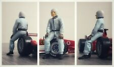 Rudolf CARACCIOLA figurine pilote diorama 1/43 F1 driver figure