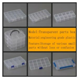 Transparent plastic parts box electronic component storage box tool Screw box