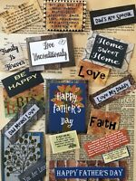 Father's Day Scrapbooking Papers, 75+ Items, Vintage Book Pages, Quotes