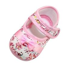 Chaussures chausson Bébé fille en coton rose souple