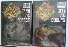 Nature of the Beast Farm vs. Forest & City vs. Suburb  Animal Card Game Both New