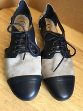 Candela AnthropologIe Size 7,5 Oxfords Women's Leather Shoes