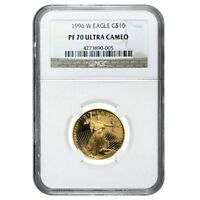 1996 W 1/4 oz $10 Proof Gold American Eagle NGC PF 70 UCAM
