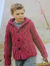 baby knitting pattern jumper 2 years to 13 years 10 ply aran 2 designs