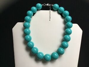 Women's Turquoise Chunky Bead Choker Necklace