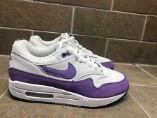 Women's Nike Air Max 1 White Atomic Violet Purple Shoes 319986-118 Sz 9