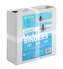 Members Mark 3 D Ring View Binder White 2 Pk
