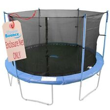 8' Trampoline Enclosure Safety Net Fits Round Frames Using 6 Poles or 3 Arches