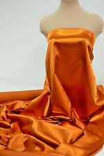 "SATIN POLYESTER  60"" BURNT ORANGE   FABRIC BTY DRESSES, FORMAL WEAR"