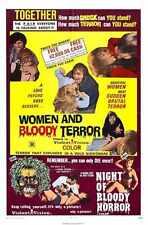 Combo Femmes et sanglante de terreur Poster 01 A3 Box Toile imprimer