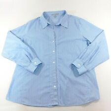 fdd2ca1b5b6259 New ListingFoxcroft Womens Blue Striped Long Sleeve Button Down Blouse, Plus  Size 14W