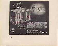 BERLIN, Werbung 1936, Blaupunkt Radio Technik Musik Rundfunk 7 W 86 Empfänger