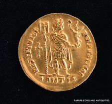 ANCIENT ROMAN GOLD COIN; VALENTINIAN I 364-375 A.D. SCARCE COIN!