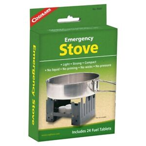 Coghlans Emergency Stove & Solid Fuel Tablets Hexamine Tablets x24 Steam Engines