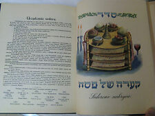 Hagada Na Pesach Polish Guens Spitzer Schlesinger Austria 1930 Transl. Haggadah