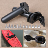 2PCS Flush Mount Fishing Rod Holders Rubber Gasket Cap Set For Kayak Canoe Boat