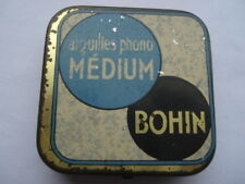 VINTAGE AIGUILLES PHONO MEDIUM BOHIN GRAMOPHONE NEEDLES TIN