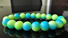 "Yellow Turquoise Gemstone bead bracelet Men Women Stretch 10mm 7.5"" Multicolor"