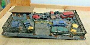 Gauge H0 Built Diarama Scrapyard / Scrap Cars