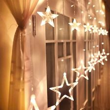 Twinkling Stars Curtain Window Wedding Party Hanging Fairy String Lights Xmas UK