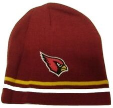 Arizona Cardinals Yellow/White Striped Cuffless Knit Hat