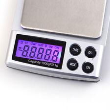 1000g/0,1g Feinwaage Goldwaage Taschenwaage Digital Waage Scale Schutzhülle CV