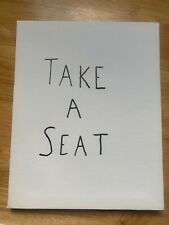 Take a seat. canvas  sign 8X10  New