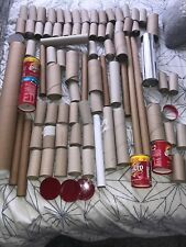 A Mix Of Cardboard  Roll Tubes - Kids Crafts Total Of 86.