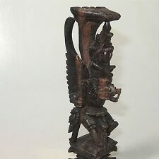 Vieja guanyin (?) en Buda dragón muy detallada holzschnitzerei aprox. 20 cm