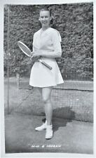 MORAN GUSSY 1950's ORIGINAL PHOTOGRAPHIC TENNIS POSTCARD