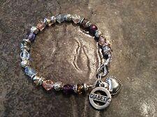 Diabetic Medical Alert bracelet with sparkly Czech glass beads  Diabetic charm