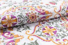 0,5 Cotton Satin Fabric Vintage with Art Nouveau Pattern Ornaments Trend