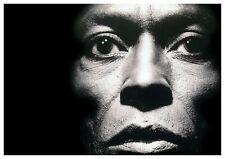 "Reproduction ""Miles Davis - Face"" Poster, Jazz, Vintage Print, Size: A2"