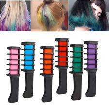 6Pcs Set Temporary Hair Chalk Color Comb Dye Salon Party Fans Cosplay Kit DIY UK