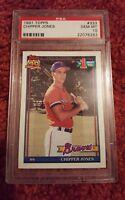 1991 TOPPS chipper jones RC Rookie card psa 10 GEM MINT HOF BRAVES MLB #1 PICK