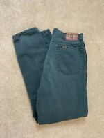 Vintage HIS Jeans Green Streetwear Made In USA Size 32x32